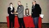 Best Manufacturing Technician CAD/CAMPictured lt. to rt.: Award-winner Rachelle Laliberte; Ed Bernard, president, Bernard Mould Ltd.; Bill Stammler, St. Clair College.