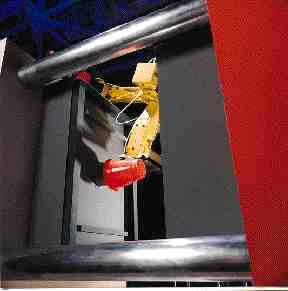 3. Fanuc M6iT and M16iT robots combine articulation with an overhead rail mounting for enhanced reach.