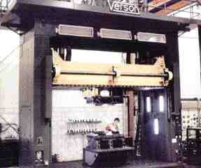 Lamko has a large inventory of moldmaking and auxiliary equipment, including this 200 ton Verson spotting press.