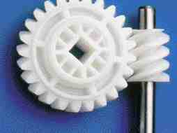 Dow Corning's silicone masterbatch additive is easy to use and improves surface properties of acetal products, such as this gear.