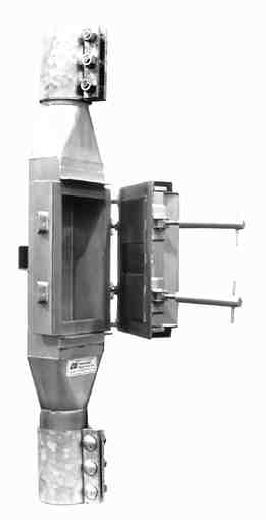 Bunting's pneumatic in-line magnet separators remove ferrous fines and tramp iron from particulates in conveying lines.