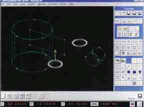 A new graphics model in MeasureMind 3D from Optical Gauging Products shows measured features in wire-frame views that can be interactively rotated with the mouse. In addition, a DXF file containing nominal features can be displayed with the measured values.