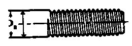 BL BLExample: 1/2-13 UNC0.4219 in. - 0.024 in. = 0.3979 in. ofelectrode where B = length of thread,and L= overall length.