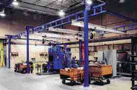 Gorbel's bridge cranes can be installed in smaller plants to promote productivity.