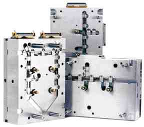 Hot halves of Husky Injection Molding Systems' Pronto hot runner systems cost about 20 percent less than custom systems.