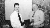 1999 Best Moldmaking TechnicianCAMM president Burt Kenney presents a plaque to award-winnner Jeffery Moore.1999 Best Plastic Mold Design TechnicianMike Hicks, sales manager, Diemould Service Co. (Canada) Ltd., presents a trophy to award-winner Sam Shiu.