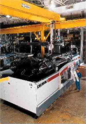 Van Dorn Demag's Calibre Series presses are available in 100 to 3300 ton versions. The 1430 and 3300 ton units are two platen machines, and feature wide tie-bar spacing.