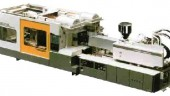 Toshiba's ISFD Series machines use a unique 2-platen direct lock clamp for enhanced cycle speed and reduced machine size. The ISFD Series is available in capacities from 1430 to 3850 tons.