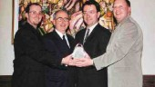 Injection molder IPL Inc. (St-Damien, Que.) was awarded CPIA Quebec's Prix d'excellence at the group's annual gala. Pictured left to right: Jean-Franois Lavoie, project manager, automotive; Julien Mtivier, president and CEO; Alain Ferland, president and COO; Michel Lanoue, director, R&D, industrial division.
