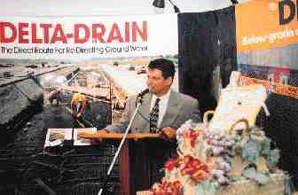 Cosella Drken vice president Joseph Vacarella talked about the company's lean early days and looked to the future at an event commemorating multiple anniversaries.