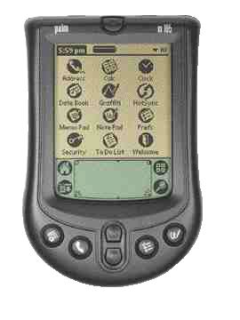 """Palm Inc.'s m100 handheld was designed with the key words """"fun"""", """"friendly"""" and """"personalized"""" in mind."""