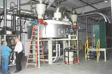Pictured here, one of the reactor units recently sold to a company in Kelso, WA is being used to fine-tune the conversion process before full-scale commercialization.