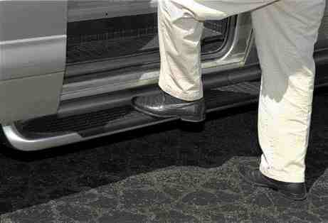 A step ahead: This step-assist for GM vans is the first nanocomposite automotive part.