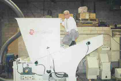 President Mike Mikellides took an active role in the development of Rotogran's innovative rotary grinder.