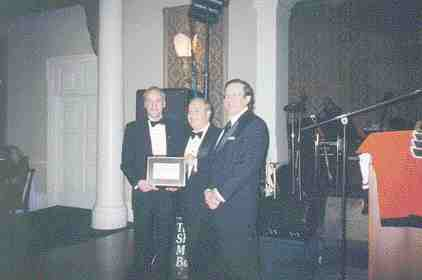 Former CPIA chairman Dennis Lauzon (centre) receives a Lifetime Achievement Award from the current chairman, Paul Cohen (left), and Pierre Dubois, CPIA president and CEO.
