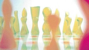 """4. """"The materials make (this chess set) not only inexpensive, but innovative. It's fun, attractive, enjoyable, and best of all, affordable."""" -- Jordan Nollman, IDSA Karim Rashid Inc. 212-929-8657"""