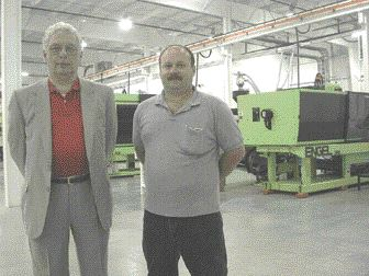 Ralph Welsh, (left) and Dan Eden in the 86,000 sq. ft. facility that now belongs to Goderich Plastics.