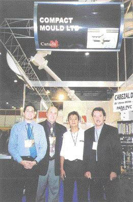 Compact Mould Ltd. has seen steady growth in the business of its Mexican subsidiary. Company staff pictured recently in Mexico are (lt. to rt.) Gaston Petrucci, Javier (Michael) Petrucci, Rainier Cruz and Miguel Petrucci.