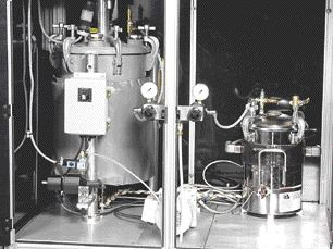 The RP-10, a low-pressure mixing and dispensing apparatus from Gusmer Corp., is the key to the Compcasting process of making functional nylon parts without expensive tooling.