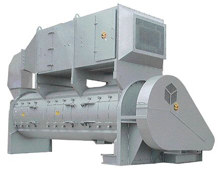 Scott Equipment's AST Drying System uses aggresive mixing to dry wood flour to less than 1% moisture in one minute.