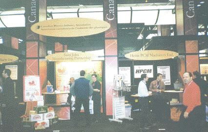 Exhibitors at the Canadian pavilion at NPE reported good visitor pass-through.