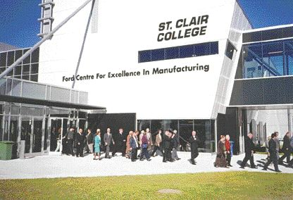 Over a thousand people attended the official opening of St. Clair College's Ford Centre for Excellence in Manufacturing on Oct. 2. The Centre will support a number of pre-apprenticeship and degree-level programs in the precision-metal cutting trades, as well as manufacturing engineering.