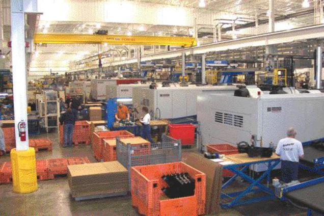 Toledo Molding & Die has filled its new 194,000 sq. ft. plant in Tiffin, OH with over 20 new blow molding and injection molding machines. The company has been the recipient of major new contracts to supply automotive ductwork to OEMs and Tier Ones.