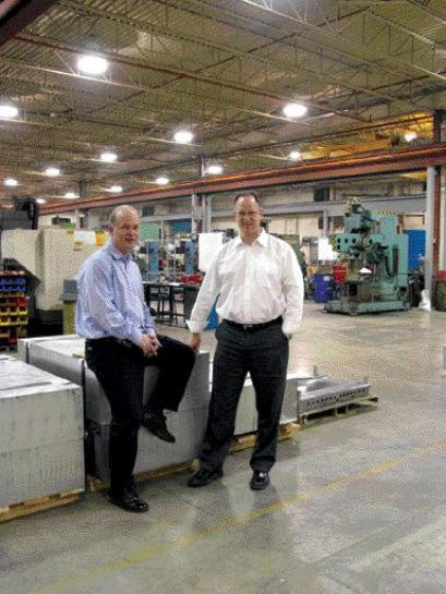 Designing the new plant to optimize work flow and efficiency had immediate benefits for FGL, report Michael Wedgewood (left) and Tom Meisels.