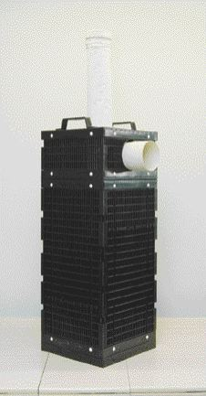 A filter system designed and manufactured by injection molder Formax Plastic uses air and coils of extruded pipe to reduce pollution in water discharged from septic tanks.