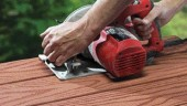 """""""The average person can work with it,"""" Jim Pratt of Composatron says of his company's line of Premier composite decking."""