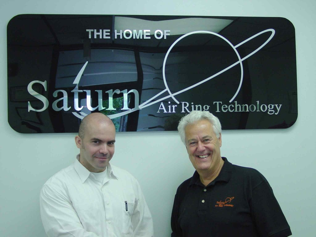 The new team: Rafael Castillo, president of Dual Spiral Systems (left), and Robert Krycki, president of Future Design.