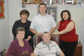 The second generation is in charge as JFJ Mold marks its 40th year in business. In front are Dorothy Tamasovics and John Tamasovics Sr., with daughters Suzy Ujj (back left) and Paula Horvath, and son John Tamasovics Jr.