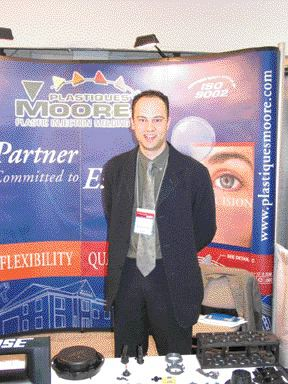 Platiques Moore sales representative Charles Ouellet reported that the injection molder is studying ways to modify plant layout in order to increase efficiency and accommodate more equipment.