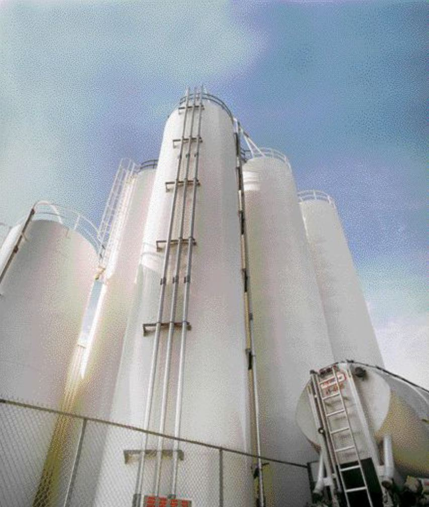 A basic silo and installation will likely cost less than $100,000, and will open up the possibility of ongoing savings on resin prices. Photo of Bericap Inc. (Burlington, ON), courtesy of Nucon Wittmann Inc.