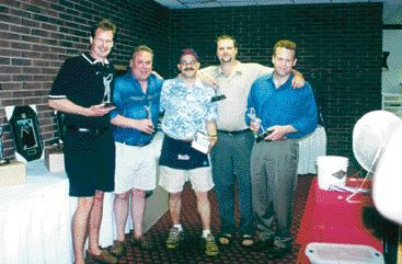 Happy golfers at the SPE tournament - One of the winning foursomes at this year's SPE Ontario golf tournament was (left to right) Ziggy Wiebe, Grant Jefferson, Ralph Nunnaro (master of ceremonies), Stef Snopek and Dave King. More than 300 people turned out for the event on June 18. Nunnaro, the long time organizer of the event, is looking for help planning next year's festivities. Please contact SPE Ontario at 905-678-7748 if you wish to volunteer.