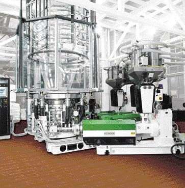 Macchi's latest addition to its Coex-Flex line of 3-layer extruders comes with a new screw and air ring, which allows processors to significantly increase the size of certain film structures.