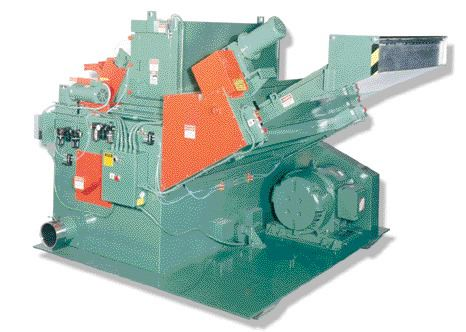 This multi-task granulator from Granutec accepts material at front and back simultaneously.