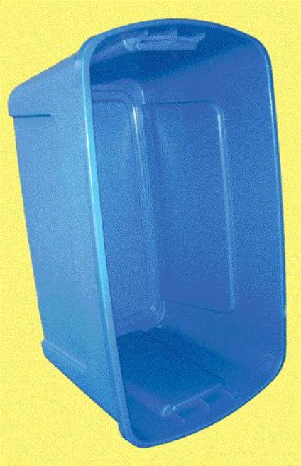 The cycle time for this polypropylene tub was reduced by 10% with the use of a nucleating agent supplied by Milliken Chemical.