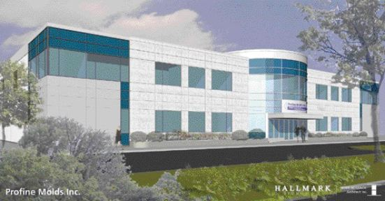 Profine Molds Inc.' new 60,000-square foot facility in Oakville, Ont.