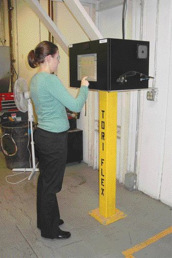 "PlastiSoft Corporation's TORI-FLEX ""shop floor"" system (pictured) is used to enter data on the production/manufacturing floor. The system allows flexible packaging manufacturers to enter critical data into the system during production, which is then used to prepare reports and evaluate the particular job that was being run through."