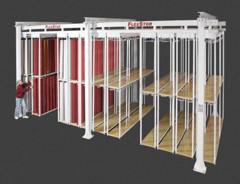 Vertical sleeve storage system