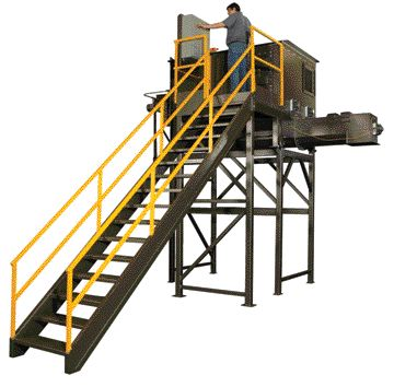 Hopper feeds non-free flowing material