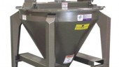 Top loading mixer for pellets or granules