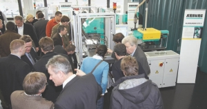 The company demonstrated the patented Exjection technology on the Allrounder 375 V machine, introduced at Arburg's Technology Days.