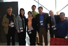 Canadian processors, Italian Trade Commission members, and ASSOCOMAPLAST employees at the Plast 09 show.
