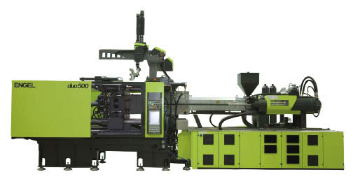 Engel's new duo pico line of two-platen machines, a hydraulic product line built for mid-size molding applications, and described as compact, fast and economical.