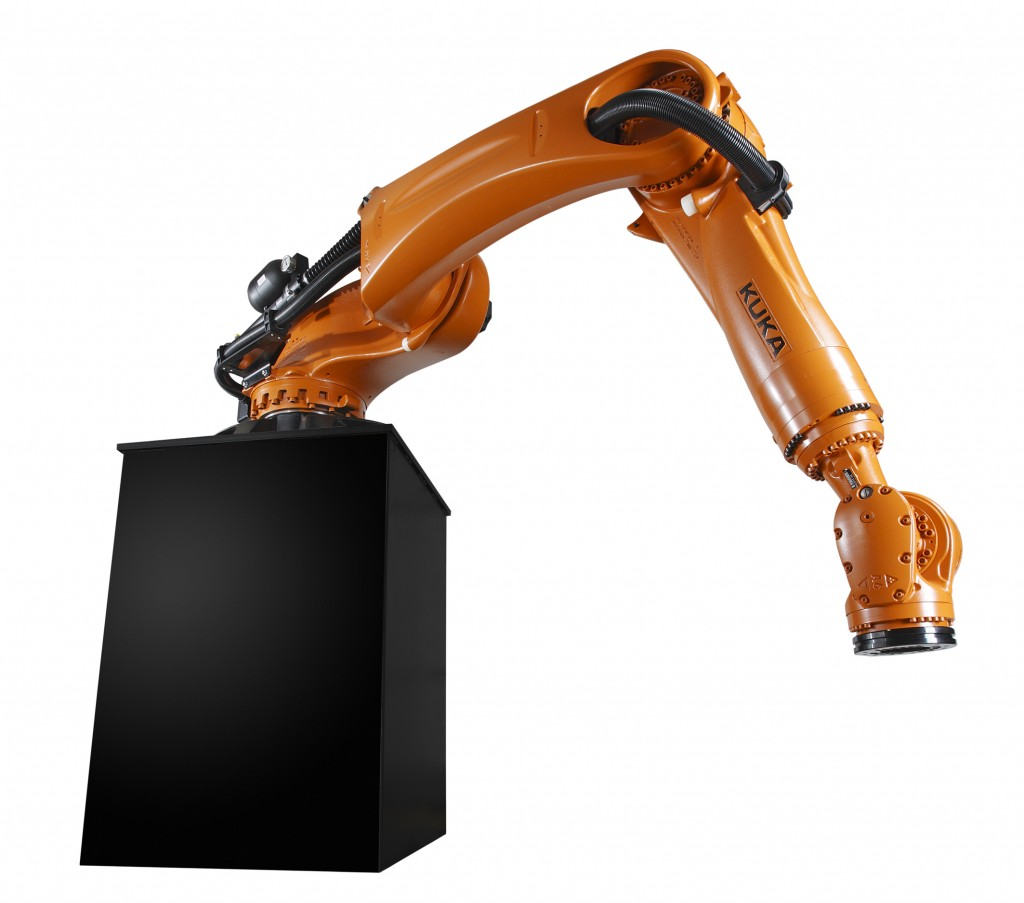KUKA's KR QUANTEC shelf-mounted robot.