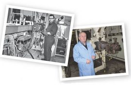Then and now: Branko Muich in 1963, and in 2013.