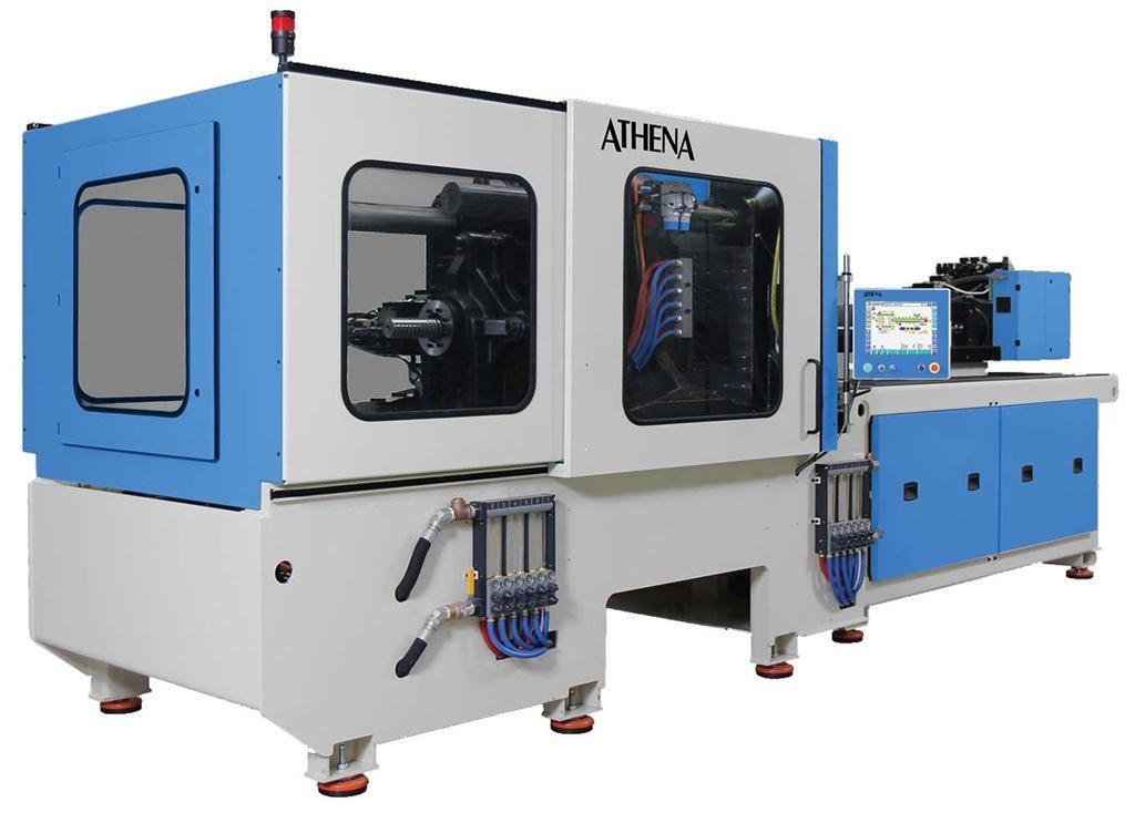 A 300 ton Athena hybrid injection molding machine.