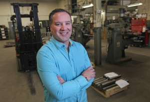 Sean O'Neil, president of Cutting-Edge Technologies Ltd., on the shop floor.  The company will be undergoing a US$10 million expansion and hiring spree due to a partnership with an American-based company.  (DAX MELMER/The Windsor Star)